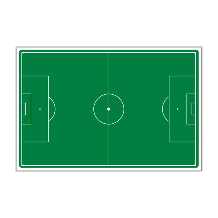 markup: A field to play Soccer with markup, vector illustration.