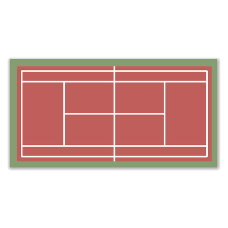markup: A field to play Tennis with markup, vector illustration.