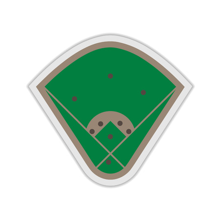 infield: A field to play Baseball with markup, vector illustration. Illustration