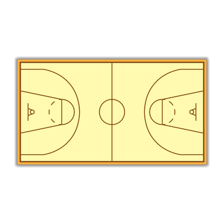 markup: A field to play Basketball with markup, vector illustration.