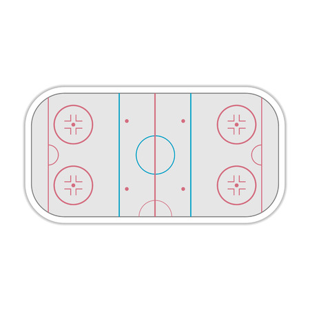 markup: A field to play Ice Hockey with markup, vector illustration.