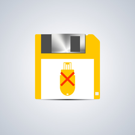 fatal error: Icon write error on a flash drive isolated on a white background, vector illustration.