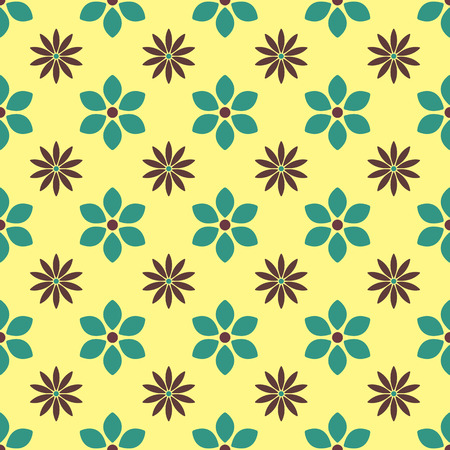 bud: Floral seamless pattern of various bud