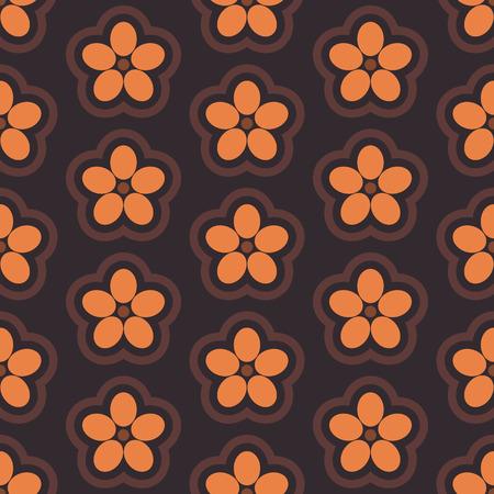 bud: Floral seamless pattern of various bud, illustration.