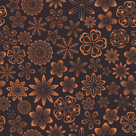 bud: Floral seamless pattern of various bud, flowers design,  vector illustration.