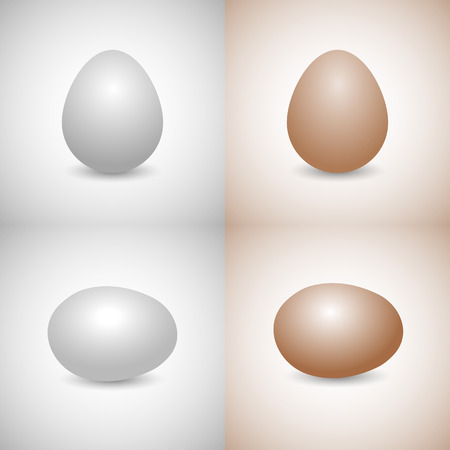 disposed: Icons eggs, white and yellow, disposed vertically and horizontally, isolated on a gray and yellow background,