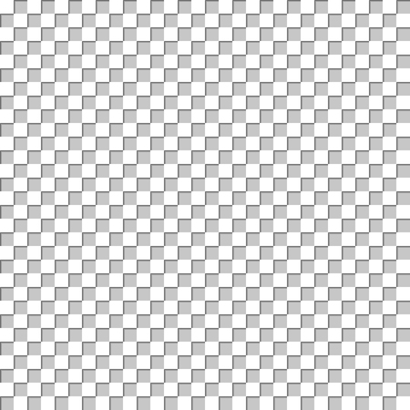 checkerboard: Seamless abstract background with volumetric white and gray squares arranged in a checkerboard pattern, vector illustration. Illustration