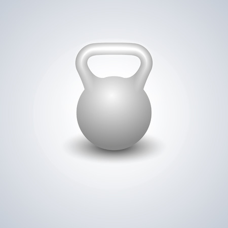 free image: Realistic kettlebell isolated on white background, design elements sports equipment for the gym, vector illustration. Illustration