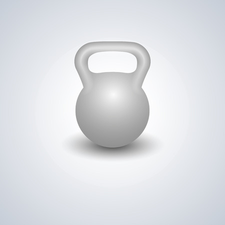 eps picture: Realistic kettlebell isolated on white background, design elements sports equipment for the gym, vector illustration. Illustration