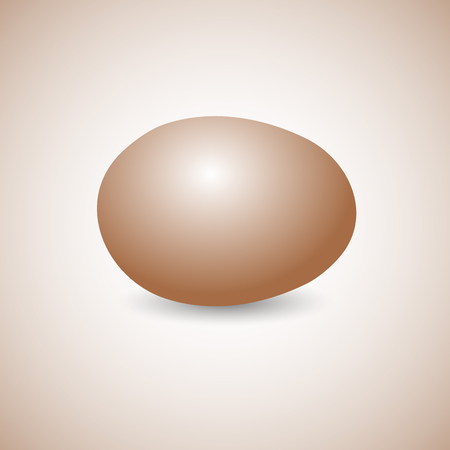 horizontally: Icon yellow egg isolated on a light  background, horizontally disposed with shadow, vector illustration.