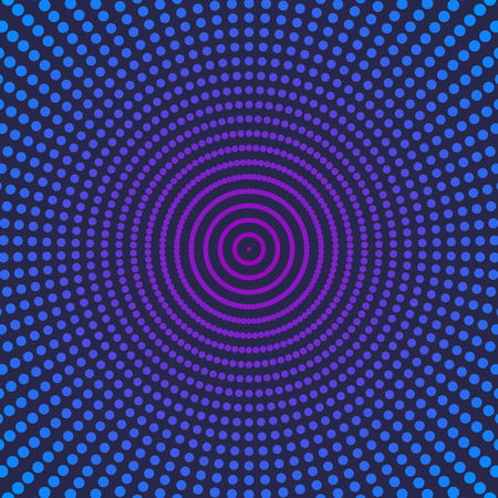 eps picture: Bright blue and purple abstract background with halftone effect and space for text, dot pattern, vector illustration. Illustration