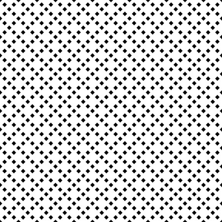 diagonal  square: Black and white seamless pattern, repeating geometric tiles with diagonal square, texture with dotted elements, vector illustration.