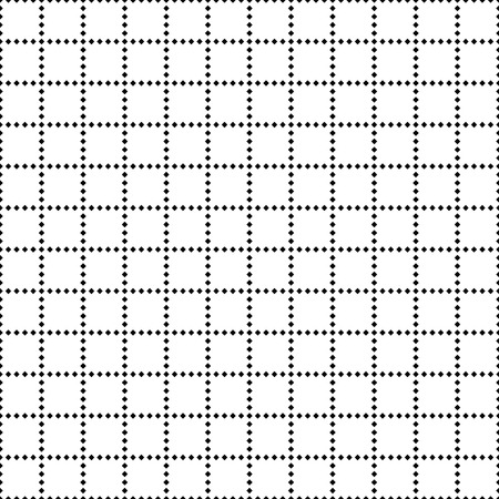 wallpaper dot: Black and white seamless pattern, repeating geometric tiles with diagonal square, texture with dotted elements, vector illustration.