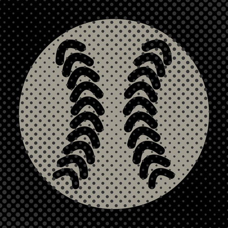 Sports background Ball for the game of baseball, the effect of halftone and place for your text, vector illustration.