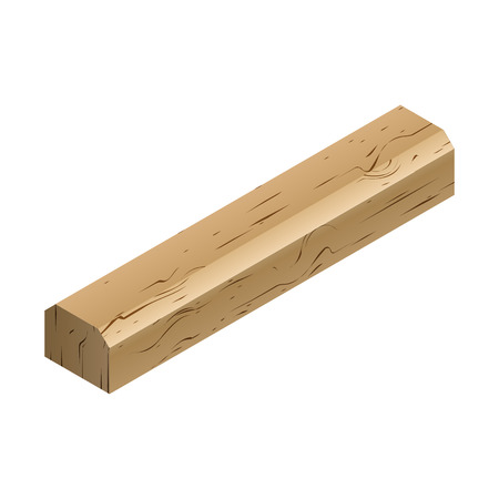 siding: Wooden sleepers isolated on white background. Railway track design element. Flat 3D isometric style, vector illustration.