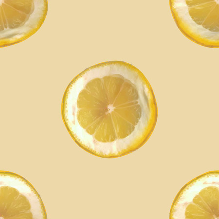 citric: Seamless citrus pattern, repeating texture of slices of lemon, vector illustration.