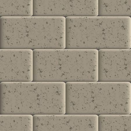 Naadloze achtergrond van stoep tegels, abstracte grunge textuur, vector illustratie.
