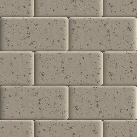 Seamless background of sidewalk tiles, abstract grunge texture, vector illustration.