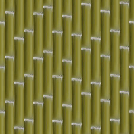 a bough: Seamless background. Texture of a set of green bamboo stalk, vector illustration.