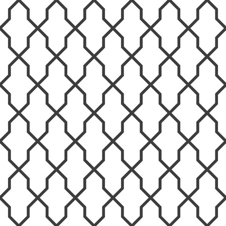 metal mesh: Abstract black and white background. Seamless geometric grille texture, vector illustration.