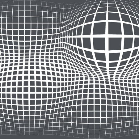 Grey abstract background with half tone effects. Bloated dots texture and vector illustration. Illustration