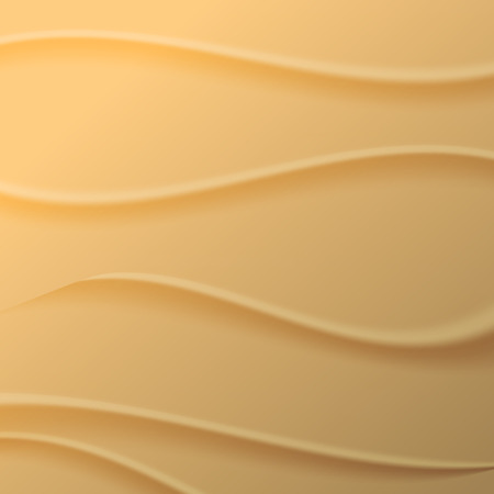 Yellow abstract background, texture wave of sand, vector illustration.