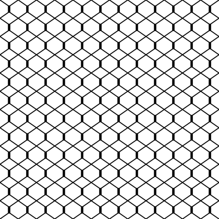 Abstract black and white background. Seamless geometric grille texture, vector illustration.