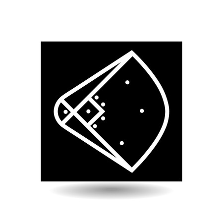 outfield: Icon playground baseball. Design element of sports objects. Isolated on white background, vector illustration.
