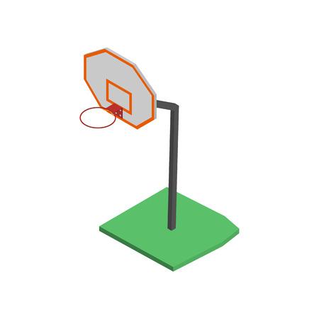 rim: Basketball court Flat 3d isometric style vector illustration.