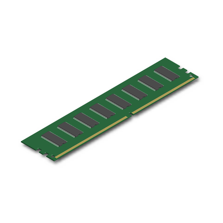 RAM-module, geïsoleerd op een witte achtergrond. Element voor het ontwerp van digitale apparaten en computeraccessoires. 3D isometrische stijl, vectorillustratie. Stockfoto - 90411704