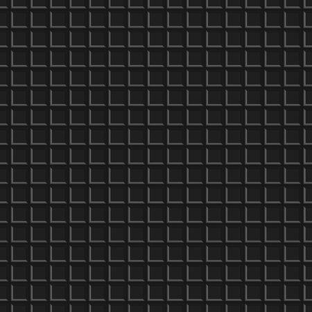 Dark abstract background, seamless metal texture with holes, vector illustration. Vettoriali