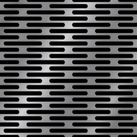 Dark abstract background, seamless metal texture with holes, vector illustration.