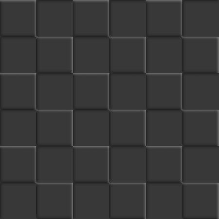 Abstract background, seamless texture from black tiles, vector illustration.