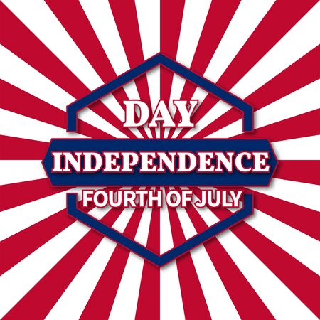 July 4th, abstract background for the holiday of Independence Day of America, vector illustration. Illustration