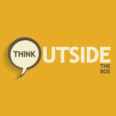 Think outside the box design Vector