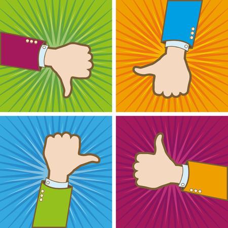 like hand: Like hand vector concept Illustration