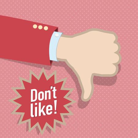 Social media dislike hand
