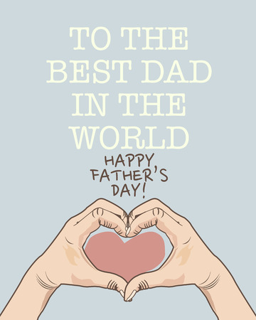father: Happy father s day poster Illustration