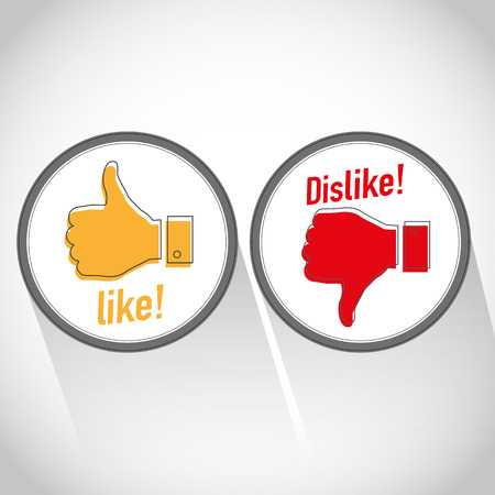 Like dislike icon Vector