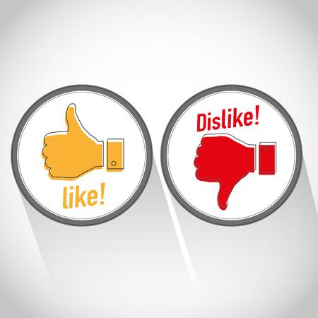 dislike: Net als afkeer icoon