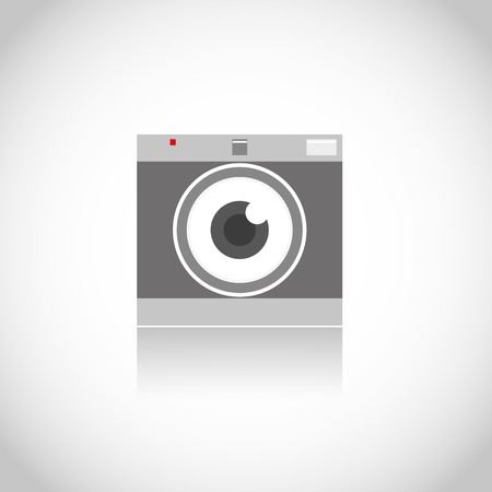 Focus eye photo camera Vector