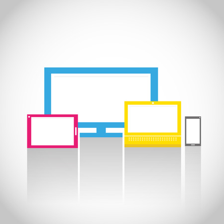 Colorful Electronic Devices