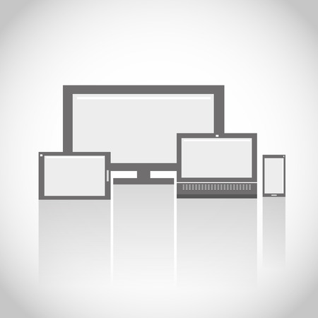 electronic devices: Electronic Devices Flat Icons