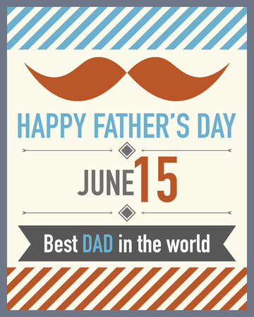 father s day: Father s Day Mustache Illustration