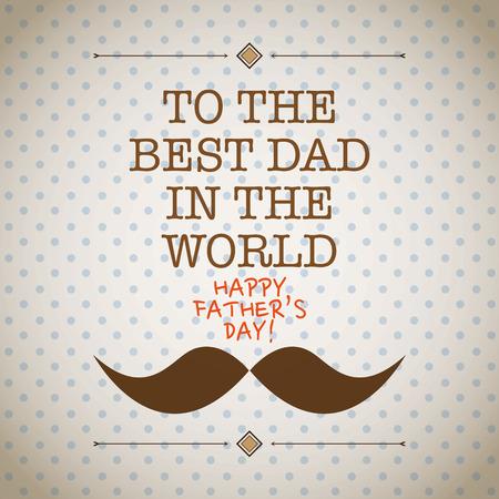 apa: Apa s nap bajusz kártya Illusztráció