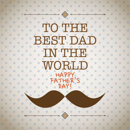 Father s day mustache card Vector