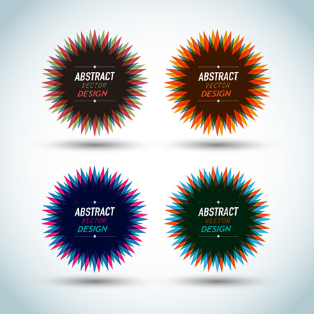 Abstract star seals Vector