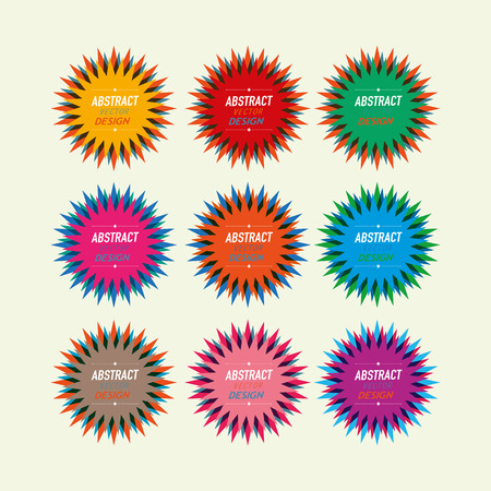 colorful star seals vintage Vector
