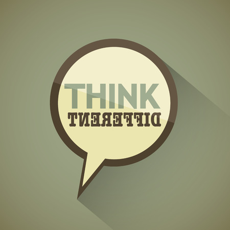 think different vintage design Vector