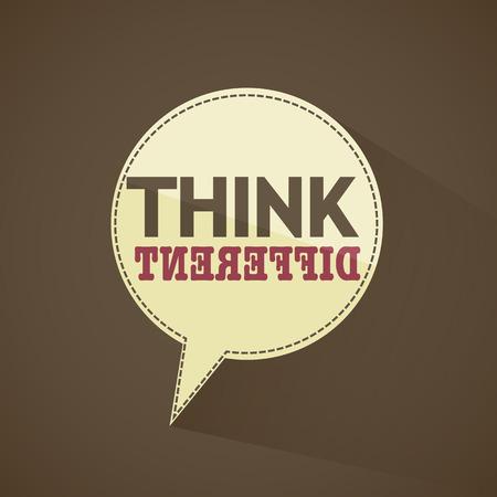 idea bubble: Think different idea bubble